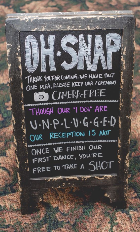 wedding unplug sign2